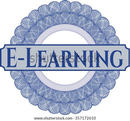 E-Learning abstract linear rosette