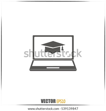 e-learning concept design, vector illustration