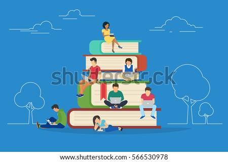 e learning concept illustration ...