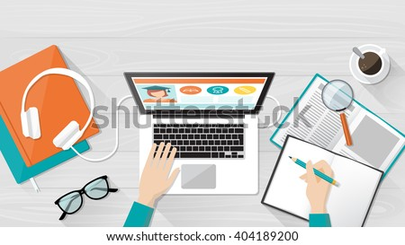 https://image.shutterstock.com/display_pic_with_logo/1075904/404189200/stock-vector-e-learning-education-and-university-banner-student-s-desktop-with-laptop-books-and-hands-top-404189200.jpg