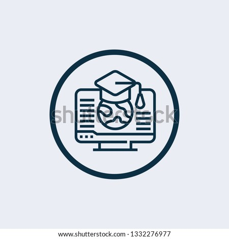 E-learning icon isolated on white background. E-learning icon simple sign. E-learning icon trendy and modern symbol for graphic and web design. E-learning icon flat vector illustration for logo, web