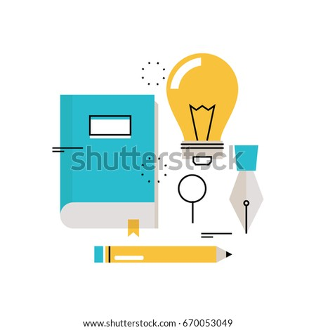 E-learning, online education flat vector illustration design. Distance education, online trainings, courses, internet studying, online book, tutorials design for mobile and web graphics