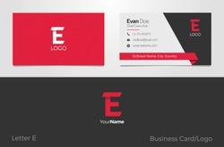 E Letter Logo Corporate Business card