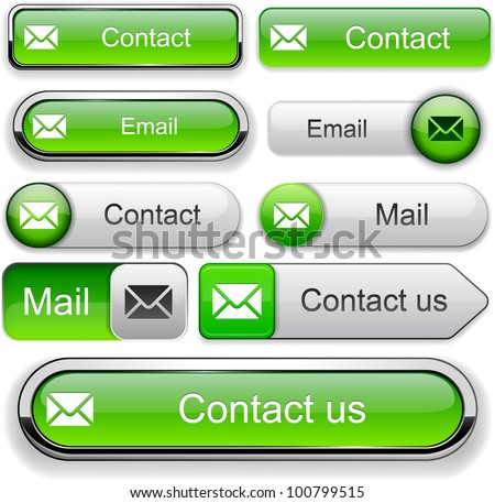 E-Mail green design elements for website or app. Vector eps10.