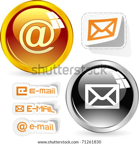E-mail icon set for web.