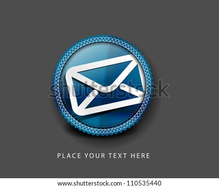 e-mail icon, vector design.