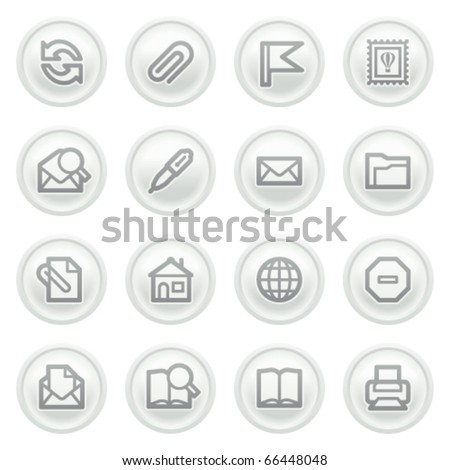 E-mail icons on gray buttons.