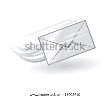 e-mail vector icon in black and white