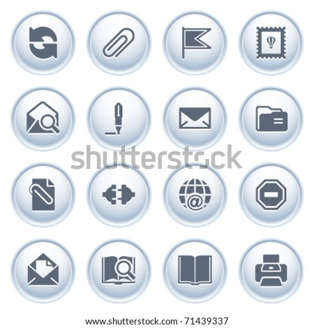 E-mail web icons on buttons.