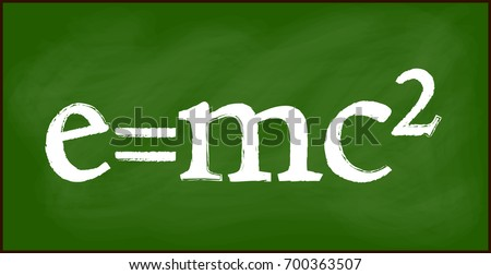 e = mc2 blackboard background beautiful banner wallpaper design illustration