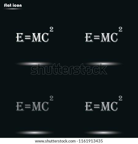 e   mc2 flat grayscale vector