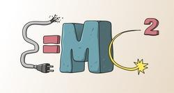 e=mc2 vector illustration