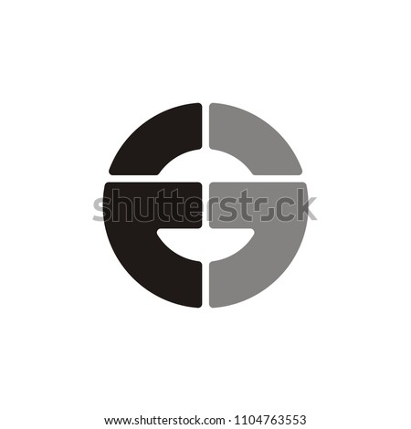 E3 or EE or 33 letter vector logo
