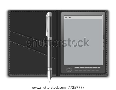 e-reader vector object