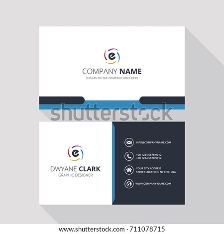 E Simple ID Card With Logo or Icon For Your Business