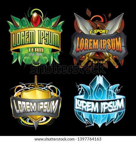 e sport logo game elemental design