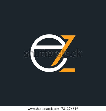 E Z joint letter logo round design vector Zdjęcia stock ©
