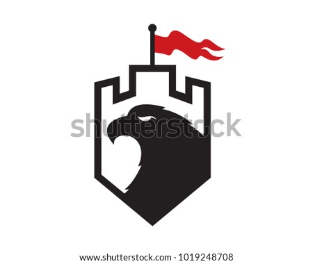 eagle and castle logo template