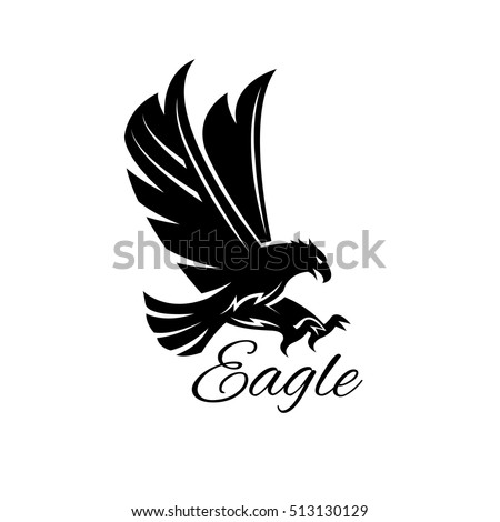 stock-vector-eagle-bird-icon-vector-heraldic-emblem-of-powerful-wild-falcon-with-stretching-clutches-symbol-of