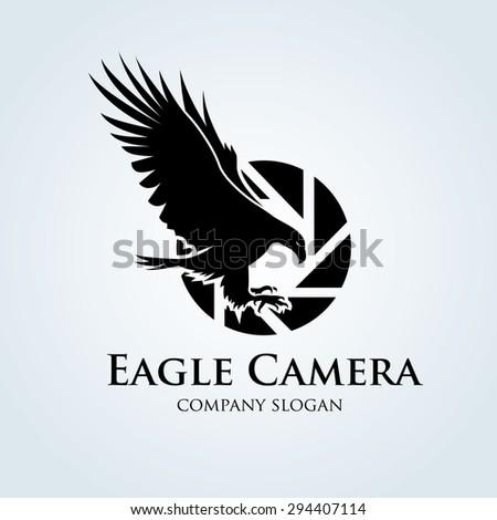 eagle camera vector logo design