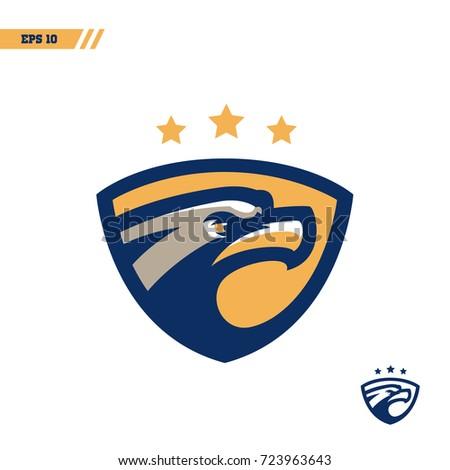 Eagle colorful sports logo - vector illustration, emblem, design on white background