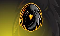 Eagle E-sport Mascot Logo Design, Illustration Vector