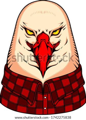 eagle, eagle vector, vector, eagle face, eagle art, bird vector,