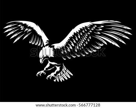 eagle emblem isolated on black
