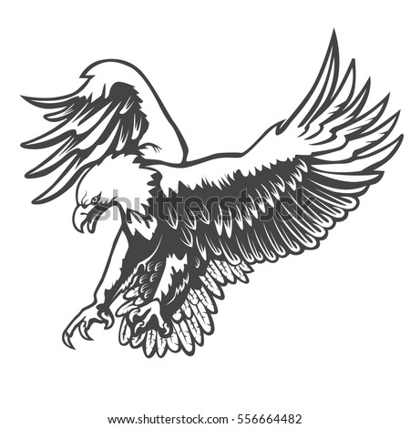 Shutterstock Eagle emblem isolated on white vector illustration. American symbol of liberty.