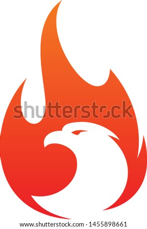 Eagle fire vector icon in abstract style on the white background. Fire icon for your best business symbol. Vector illustration EPS.8 EPS.10