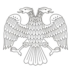 Eagle from the Russian money (The eagle of the Russian provisional government)