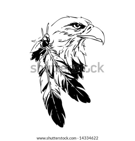 Black And White Eagle Head. stock vector : Eagle Head