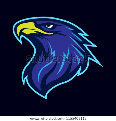 eagle head animal mascot - logotype concept - sporty vector illustration