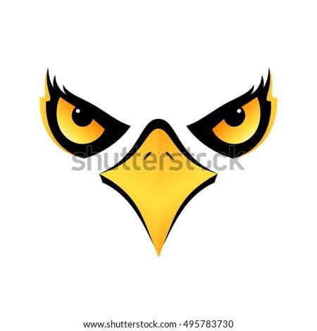 eagle head isolated concept
