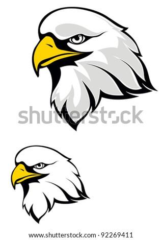 Eagle head logo isolated on white background. Vector illustration