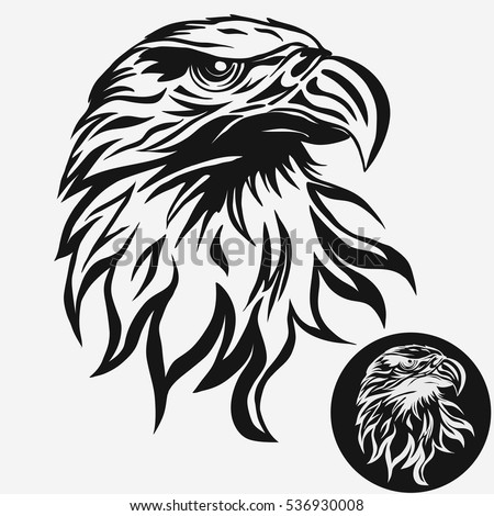 eagle head logo template  hawk