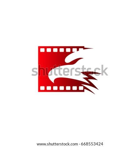 eagle head with film strip logo