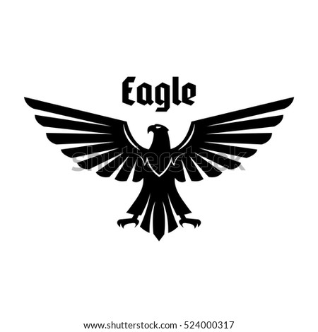 eagle heraldic symbol black