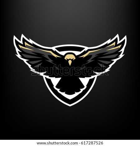 Eagle in flight, logo, symbol.