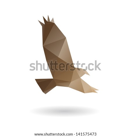 Eagle isolated on a white backgrounds, vector illustration