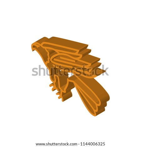 Stock Photo Eagle isometric right top view 3D icon