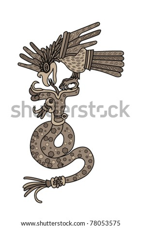 eagle killing the snake on