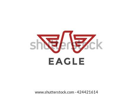 eagle logo abstract design
