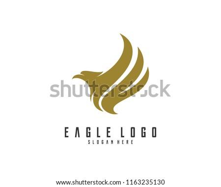 Eagle logo design vector, Illustration