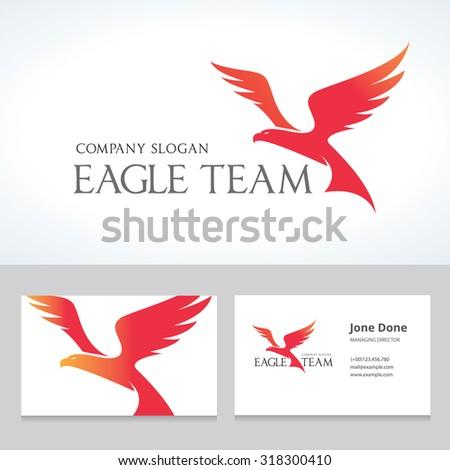 eagle logo eagle team vector