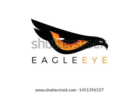 eagle logo forming eyes that