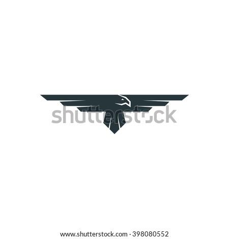 eagle logo raven mockup