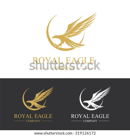 eagle logo royal eagle  animal