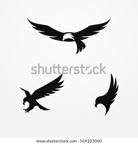 eagle logo  silhouette