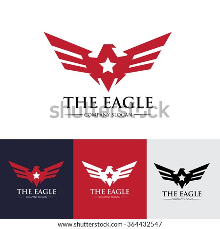 eagle logo vector logo template
